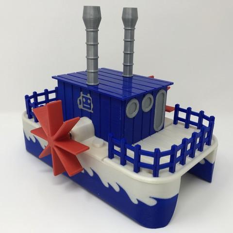IMG_0909.jpg Download free STL file WiFi Paddle Boat • 3D printing design, gzumwalt