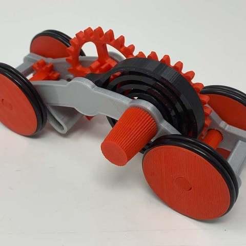 Download free 3D model How I Designed a 3D Printed Windup Car Using