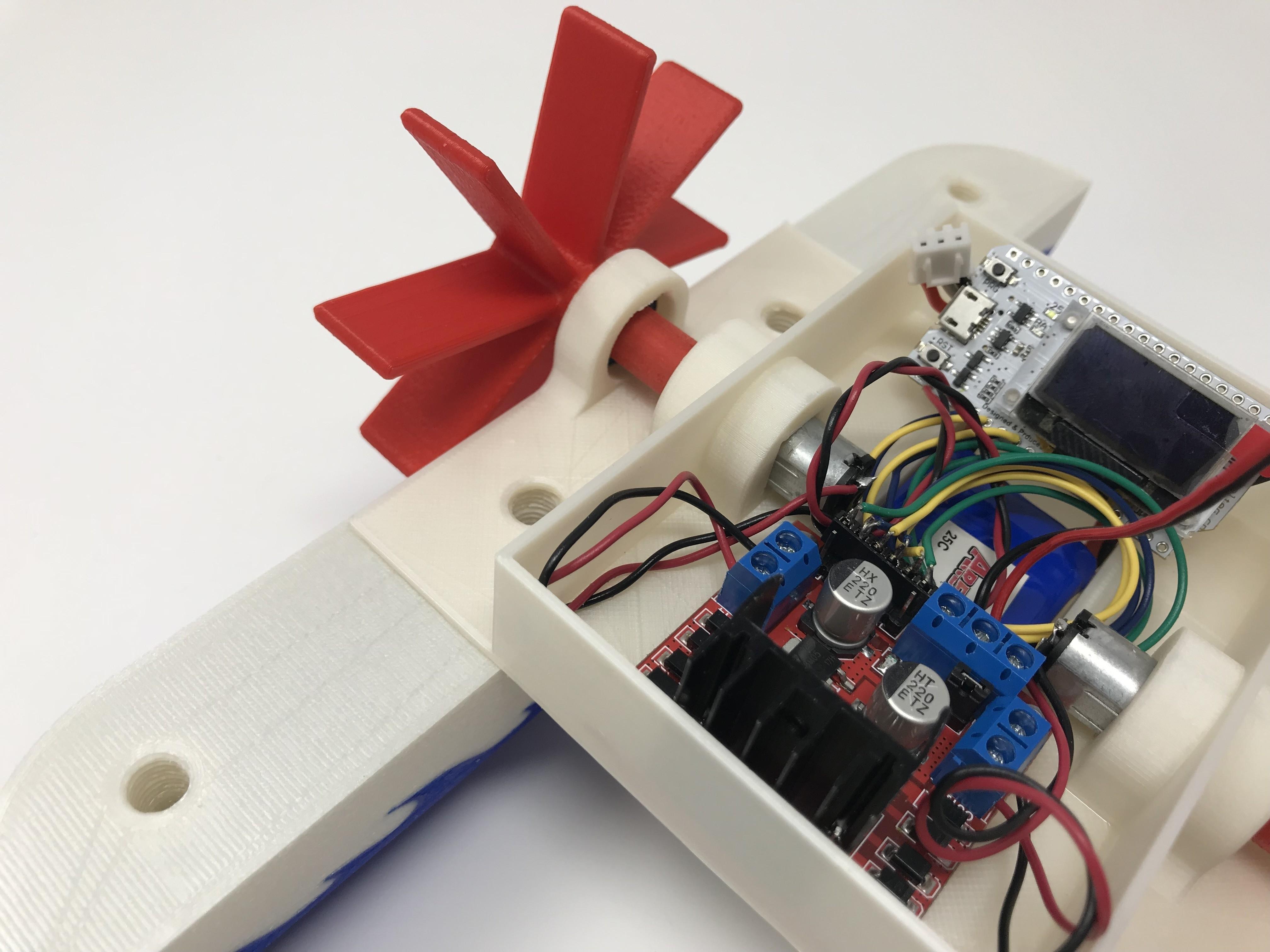 IMG_0826.jpg Download free STL file WiFi Paddle Boat • 3D printing design, gzumwalt