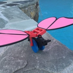 Imprimir en 3D gratis Juguete de Empuje, Mariposa, gzumwalt