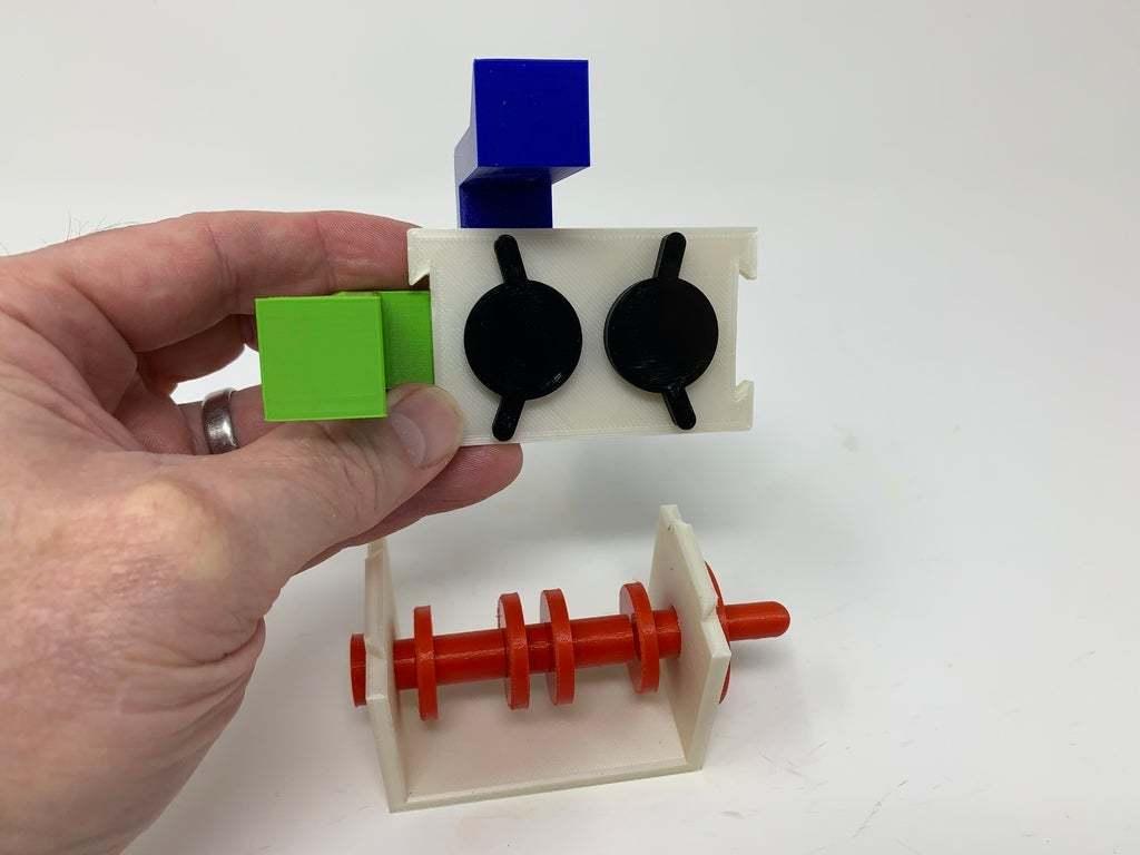 """Image0004b.JPG Télécharger fichier STL gratuit """"Lora et moi"""", un simple automate imprimé en 3D. • Plan à imprimer en 3D, gzumwalt"""