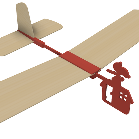 Red Barron v8.png Download free STL file Red Baron Hand Launched Glider • 3D printer template, gzumwalt
