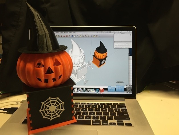 Visions_preview_featured.jpg Download free STL file Visions of Halloween Danced In Her (His) Head, Motorized • 3D printing template, gzumwalt