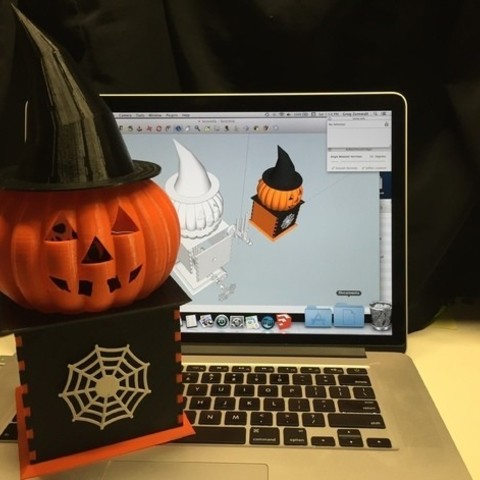 Download free 3D printer files Visions of Halloween Danced In Her (His) Head, Motorized, gzumwalt
