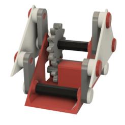 """Image0000c.png Télécharger fichier STL gratuit Un mécanisme de """"marche"""" simple imprimé en 3D • Design à imprimer en 3D, gzumwalt"""