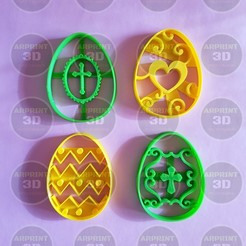 Impresiones 3D cortantes de galletas pascuas / Easter cookies cutters, arprint3d