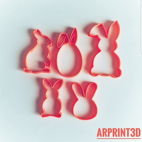 Download 3D print files Easter cookie cutters / Easter cookies cutters, arprint3d