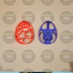 Descargar archivo 3D cortantes de galletas pascuas star wars / Easter cookies cutters star wars, arprint3d