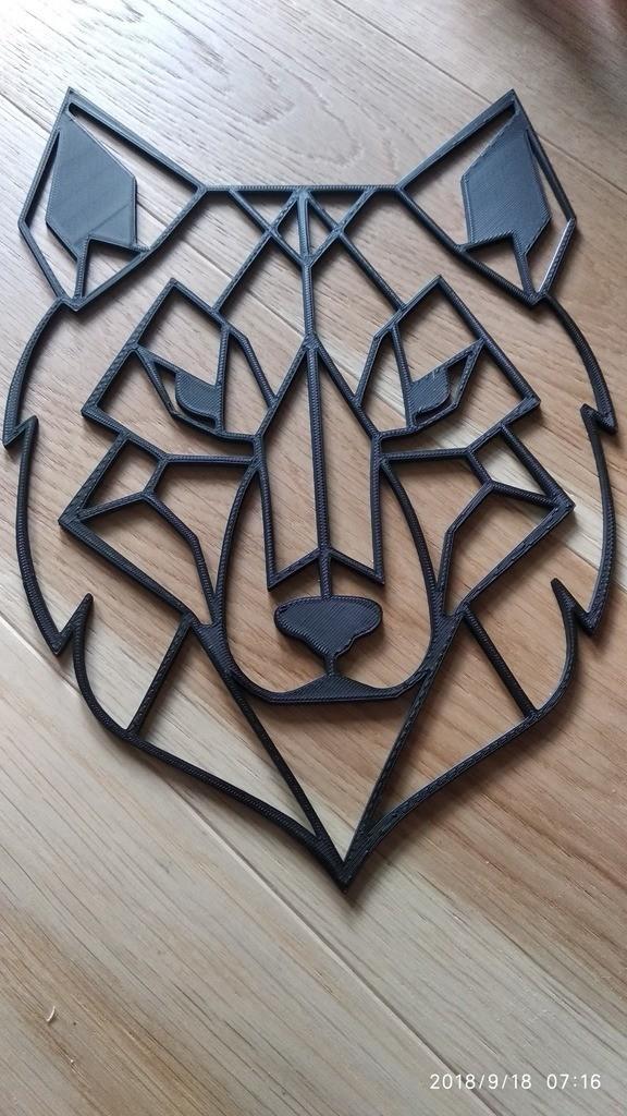 3efdb705272981a7e8a0ab396a6f0ee0_display_large.jpg Download free STL file Geometric Wolf Wall Sculture • 3D printer design, kaju666
