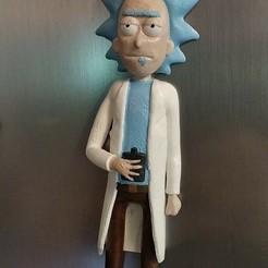Download free 3D printer files Rick Sanchez (from Rick and Morty) FRIDGE MAGNET, kaju666