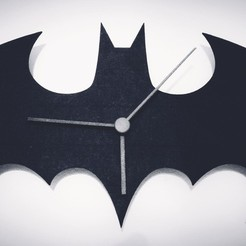 Download free 3D printer templates Batman logo Wall Clock Ikea STOMMA, kaju666