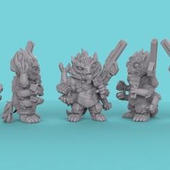 STL files Six Armed Alien Mini (Engineer/Mechanic), 3DPXYZ