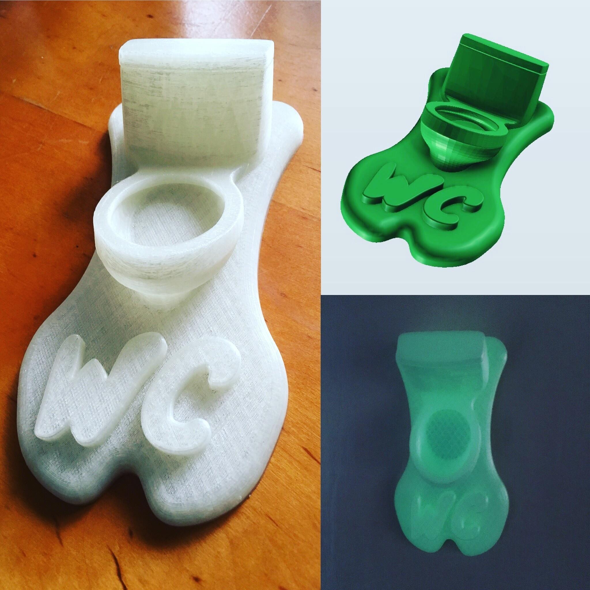 IMG_4914.JPG Download STL file WC Sign • 3D printing design, Tomshik3D