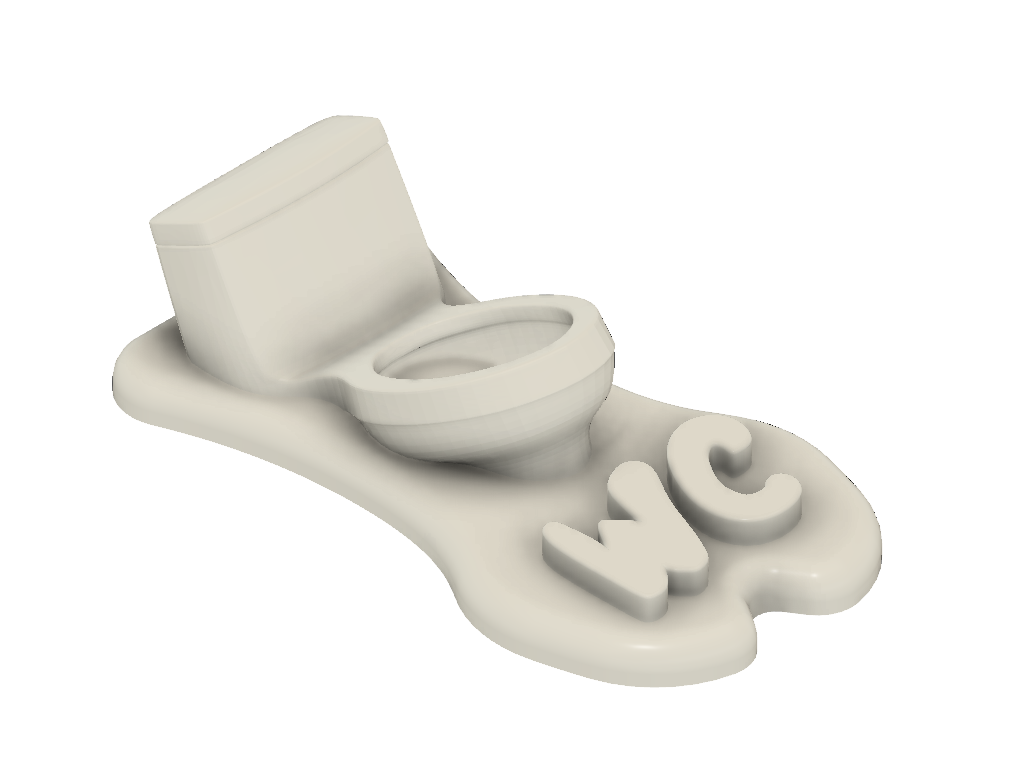WC 02 total COM v2.png Download STL file WC Sign • 3D printing design, Tomshik3D