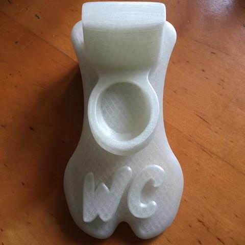 IMG_2935.JPG Download STL file WC Sign • 3D printing design, Tomshik3D