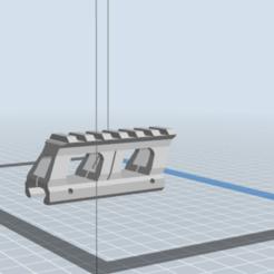 3D printer models 20mm RIS Rail Riser, Echo-Tango-1