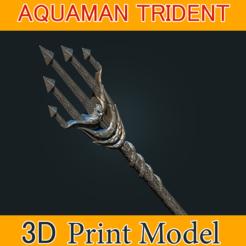 Download 3D printer designs Aquaman Trident Cosplay STL files - Costume Weapons 3D Printing, 3DPrintModelStoreSS
