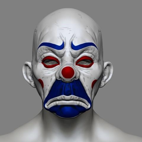 3D printing model Clown Mask Dark Knight Cosplay Halloween STL File, 3DPrintModelStoreSS