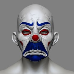stl files Clown Mask Dark Knight Cosplay Halloween STL File, pthofantastic