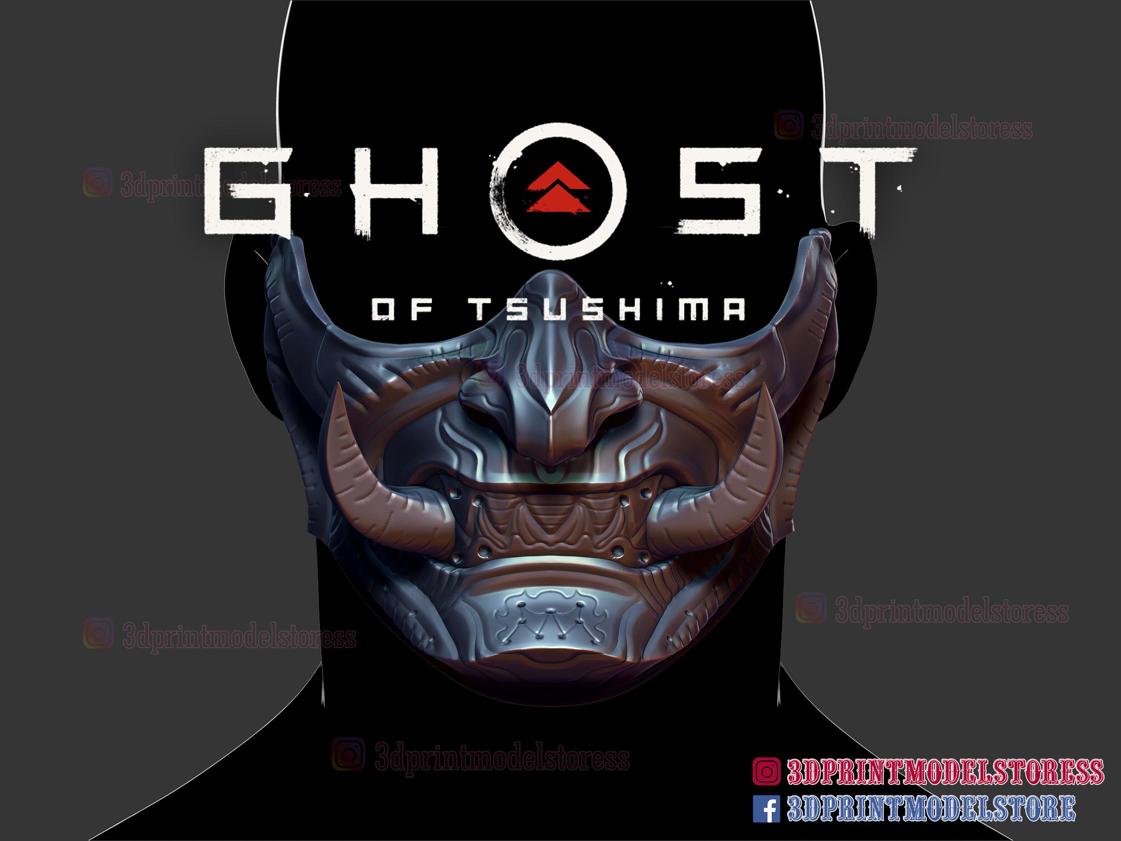 Download Stl File Ghost Of Tsushima Oni Samurai Mask 3d Print Model 3d Printing Model Cults