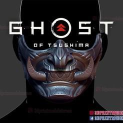 Descargar modelos 3D para imprimir Fantasma de Tsushima - Máscara de Samurai de Oni Modelo de impresión en 3D, 3DPrintModelStoreSS