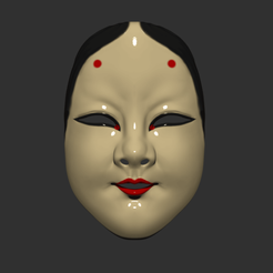 Noh_mask_001.png Download STL file Japanese Mask The Deep World of Noh - Noh Mask  • Template to 3D print, 3DPrintModelStoreSS