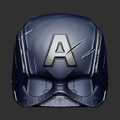 Download 3D printer model Captain America Helmet Avengers Endgame Cosplay , 3DPrintModelStoreSS