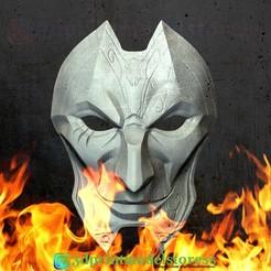 Descargar archivos 3D Liga de Leyendas Jhin Mask Costume Cosplay LOL Helmet, 3DPrintModelStoreSS