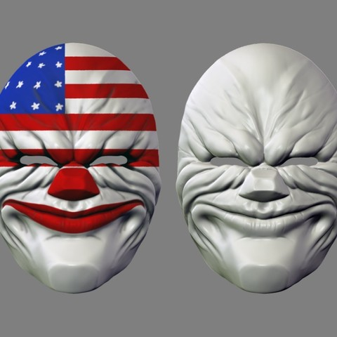 payday_mask_009.jpg Download STL file Payday 2 the Heist Dallas Game Mask Cosplay Halloween STL File for 3D Printing • 3D printable template, 3DPrintModelStoreSS