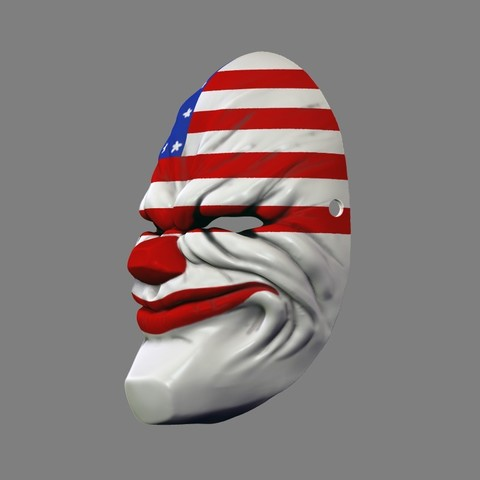 payday_mask_005.jpg Download STL file Payday 2 the Heist Dallas Game Mask Cosplay Halloween STL File for 3D Printing • 3D printable template, 3DPrintModelStoreSS