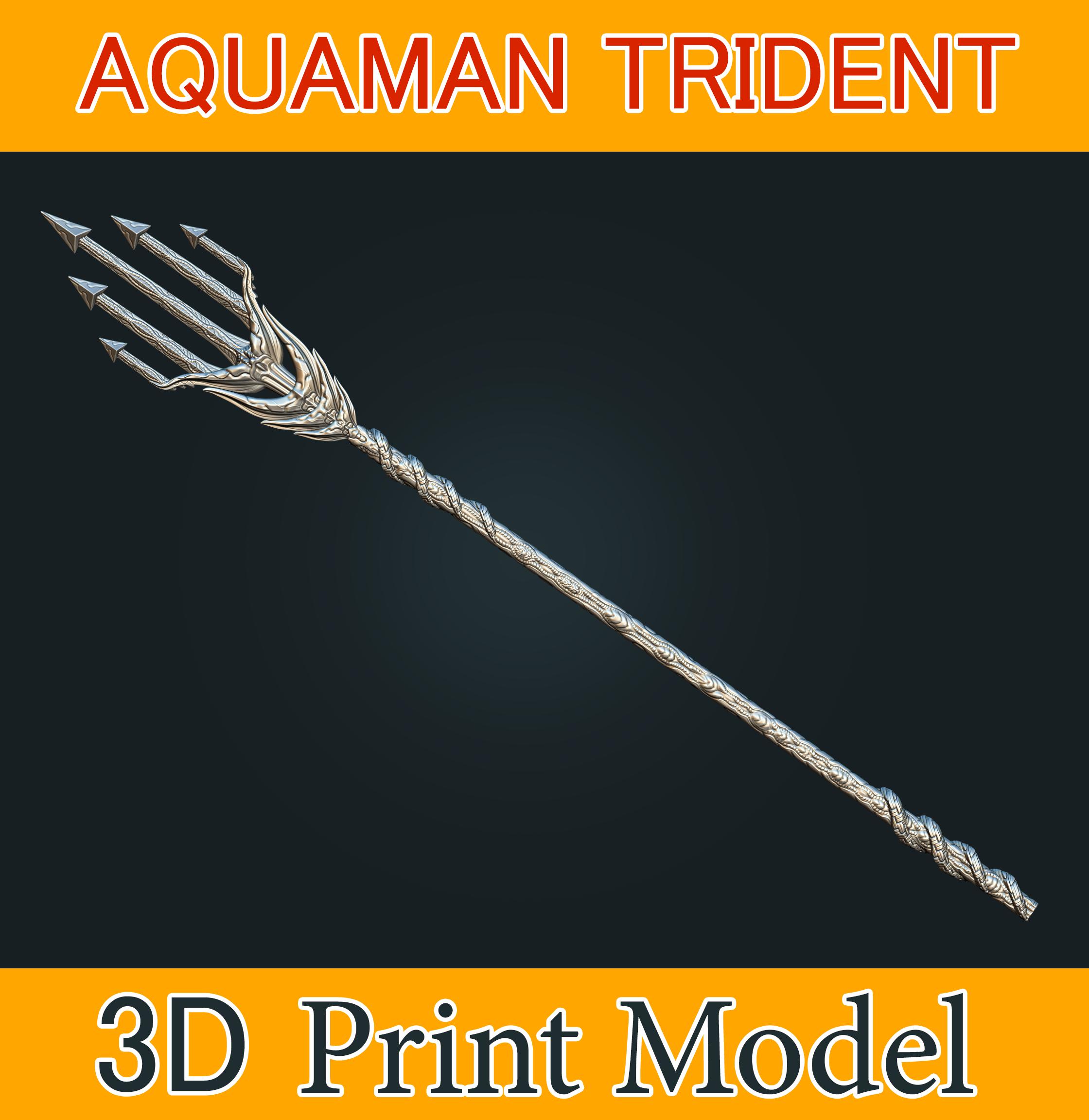 aquaman_weapon_stl_07b.png Download STL file Aquaman Trident Cosplay STL files - Costume Weapons 3D Printing • 3D printing design, 3DPrintModelStoreSS