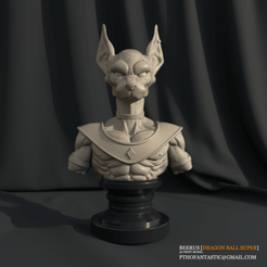 3D print model Beerus STL - Dragon Ball Super for Printing - Beerus 3D Print Model, pthofantastic