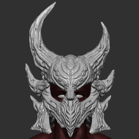 STL files Daedric Helmet STL files Costume Skyrim Cosplay 3D Print Model, 3DPrintModelStoreSS