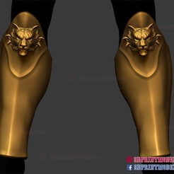 Leg_armor_roman_muscle_armor_set_3d_print_file_01.jpg Download STL file Leg Armor - Larp Armor Cosplay - Tiger Roman Muscle Armor 3D Printable • Model to 3D print, 3DPrintModelStoreSS