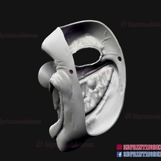 Twisted_metal_killer_clown-10.jpg Download STL file Twisted Metal Killer Clown Mask  • 3D printer model, 3DPrintModelStoreSS