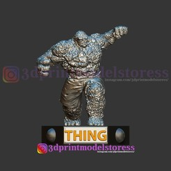 Download 3D printer files Thing Fantastic Four Statue 3D Printable STL File, 3DPrintModelStoreSS