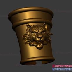 Download STL files Hand Armor - Larp Armor - Tiger Roman Muscle Armor - Spartan Armor 3D Print File, 3DPrintModelStoreSS