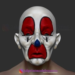 Download 3D printing designs Joker Henchmen Dark Knight Clown Mask , 3DPrintModelStoreSS