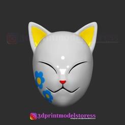 Imprimir en 3D Máscara Makomo Kimetsu no Yaiba Costume Cosplay Casco, 3DPrintModelStoreSS