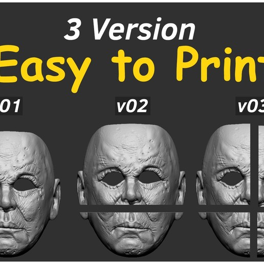 Download 3D Printer Templates Michael Myers Halloween