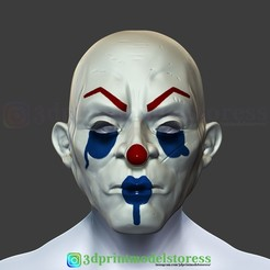 Download 3D print files Joker Henchmen Dark Knight Clown Mask Costume Helmet , 3DPrintModelStoreSS