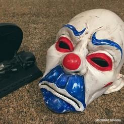 Download 3D printer files Clown Mask Dark Knight Cosplay Halloween Helmet STL File, 3DPrintModelStoreSS