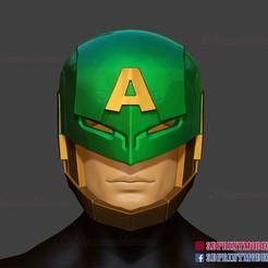 Download 3D printer files Captain America Hail Hydra Supreme Marvel Helmet Cosplay , 3DPrintModelStoreSS