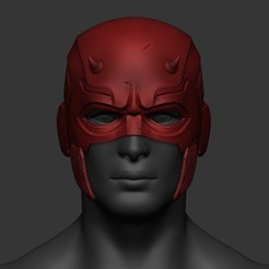 Download 3D printing files Daredevil Helmet Costume Cosplay STL File 3D Print Model, 3DPrintModelStoreSS