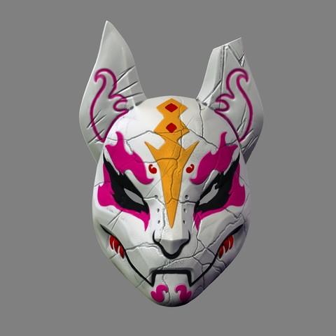 Imprimir en 3D Máscara de deriva Fortnite Special 3D Print Model Cosplay Archivo STL, 3DPrintModelStoreSS