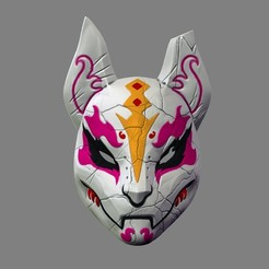 3D printer files Drift Mask Fortnite Special 3D Print Model Cosplay STL File, pthofantastic
