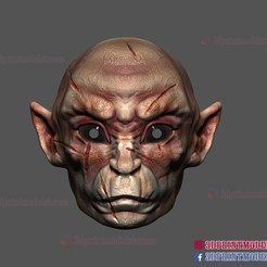 monkey_mask_3d_print_file_01.jpg Download STL file Monkey Mask - Wukong Demon - Halloween Cosplay Helmet 3D print model • Design to 3D print, 3DPrintModelStoreSS