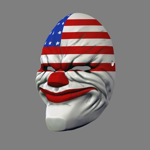 payday_mask_004.jpg Download STL file Payday 2 the Heist Dallas Game Mask Cosplay Halloween STL File for 3D Printing • 3D printable template, 3DPrintModelStoreSS