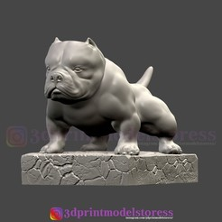 Download 3D printer designs Bulldog Statue , 3DPrintModelStoreSS