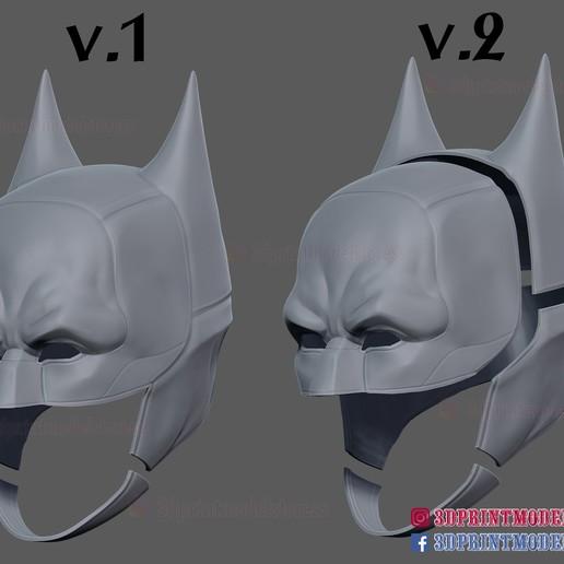 The_Batman_helmet_3d_print_model-15.jpg Download STL file The Batman Helmet - DC Comics Cosplay Mask • 3D printable design, 3DPrintModelStoreSS